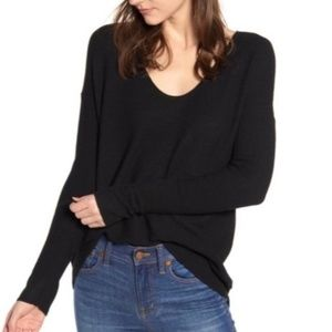NWT Madewell black Kimball oversized sweater XL